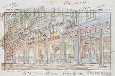 Film: Spirited Away (千と千尋の神隠し) ===== Layout Design - Scene: The Awakening Of The Spirits ===== Hayao Miyazaki