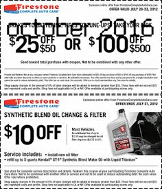 oil change coupons in sears