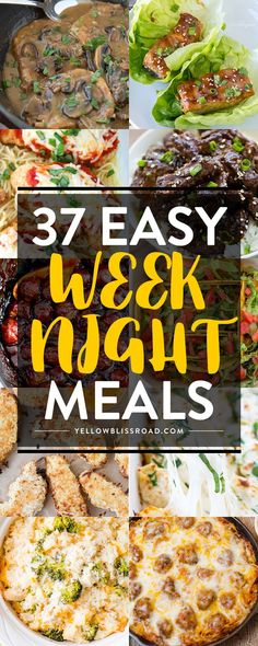 With everyone being in full blown back to school season, we are all looking for ways to make our busy evenings easier. These 36 Easy Weeknight Meals are sure to do just that.and tastier, too! Cooking For A Crowd, Cooking On A Budget, Budget Meals, Make Ahead Meals, Quick Meals For Dinner, Quick Supper Ideas, Dinner Recipes, Dinner Healthy, Dinner Ideas