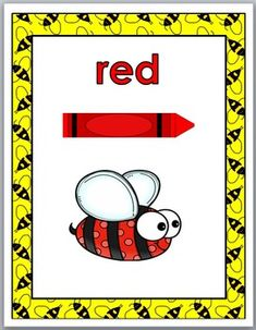 Bee Theme Classroom Decor - Color Word Posters by Marcia Murphy Insect Activities, Literacy Activities, Primary Classroom, Classroom Themes, Classroom Organization, Classroom Management, Insects For Kids, September Themes, Insect Crafts
