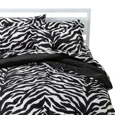 Zebra Bedding Set - Black/White (