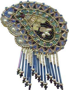 Blue Paisley Brooch download pattern by Ann Benson