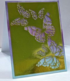 Harriett Skelly:  Memory Box Reverse Butterfly Collage Die; Distress Inks; Gold Metallic cardstock
