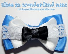 Mini Alice in Wonderland Hair Bow. $3.00, via Etsy.