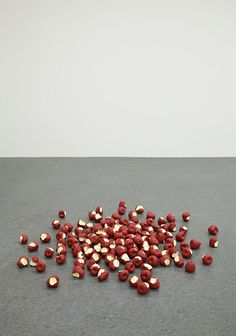 'untitled (apples)', 2012 by tom friedman  styrofoam and paint  dimensions variable  courtesy of the artist and luhring augustine, new york