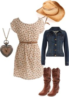 cowgirl outfit!! LOVE...I WANT THIS...put a cute knee length jean skirt under would be cuteeeeee