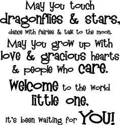 Image detail for -May You Touch Dragonflies & Stars Baby Nursery Decor Vinyl Decal Wall ...