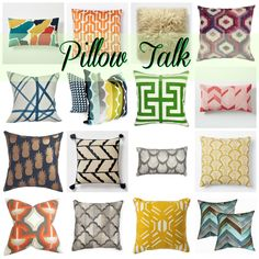 Let's get down to Pillow Talk! We share our newest finds for fabulous Throw Pillows that are fun to add to any room!