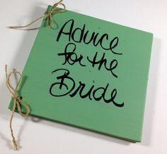 Wedding Advice for the Bride Book  by shabbyweddingdecor on Etsy