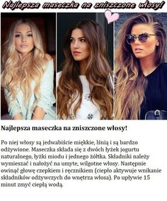Najlepsza maseczka na zniszczone włosy... Beauty Skin, Health And Beauty, Hair Beauty, Beauty Habits, Beauty Secrets, Natural Cosmetics, Hair Hacks, Hair Goals, Easy Hairstyles