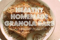 Healthy Homemade Granola Bars - Red and Honey