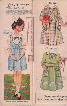 Paper dolls : Elsie Dinsmore 1919, via flickr