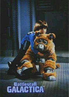 "Boxey (Noah Hathaway) & Muffit II (Evolution, ""Evie the Chimp"") - Battlestar…"