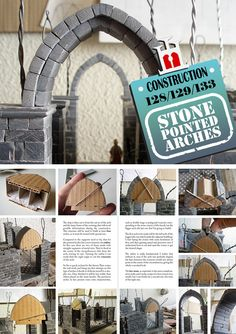 Construction Materials, Polymer Clay, Arch, Stone, Projects, How To Make, Sculptures, Log Projects, Longbow