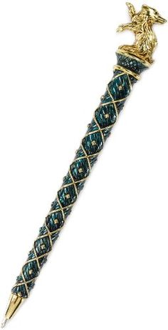 Harry Potter Hufflepuff Pen -  Each pen is die cast and plated in 24K gold and silver and richly enameled. Pens measure approximately 7 inches in length.