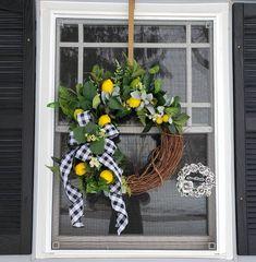 Autumn Wreaths, Easter Wreaths, Farmhouse Fall Wreath, Lemon Wreath, Fall Swags, Succulent Wreath, Sunflower Wreaths, Holiday Centerpieces, Faux Succulents