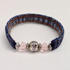Items similar to Denim Cuff Bracelet, Recycled Repurposed Jewelry, Pink Beaded Wrap Bracelet, Boho Wrap Bracelet, Girls Mom Teen Gifts Cuff Braclet on Etsy Denim Bracelet, Bracelet Fil, Beaded Wrap Bracelets, Handmade Bracelets, Beaded Jewelry, Handmade Jewelry, Denim Armband, Denim Crafts, Name Jewelry