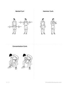 Mike Changs Actual Chest And Bicep Workout Printable Illustrated Routine