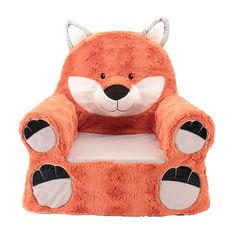 Animal Adventure Sweet Seats™ double as adorable room decor and as a super comfy pal. Rich fabrics, sweet embroidered expressions and a soft yet sturdy design make these character chairs ideal for kids.<br><br>The Animal Adventure Sweet Seats Plush Chair - Fox Features:<br><ul><li>Comfy plush kids chair.</li><br><li>All new materials with Polyester Fiber shell and Polyurethane Foam.</li><br><li>Product is su...