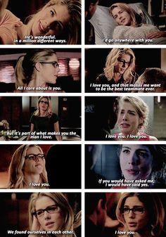 Felicity Smoak + expressing her feelings <3<3<3 #Olicity