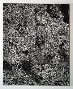 Daniel Boyd, Untitled, 2013, oil and archival glue on linen, 153 × 122cm