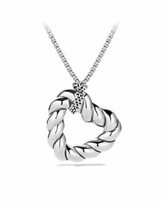 Cable Heart Pendant on Chain by David Yurman at Neiman Marcus.