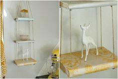 aufgehängte Regale selber machen Statuen