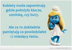 Kobiety – Demotywatory.pl Just Smile, Humor, Motto, Winnie The Pooh, Smurfs, Disney Characters, Fictional Characters, Funny, Inspiration