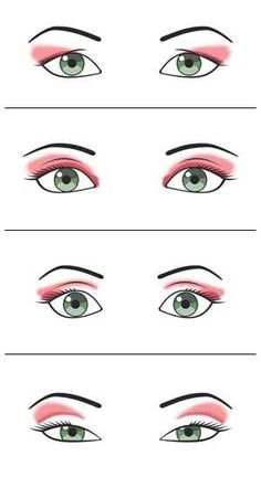 Different ways to wear eyeshadow for different eye shapes Makeup Inspo, Makeup Inspiration, Makeup Tips, Hair Makeup, Beauty Make-up, Beauty Hacks, Krieger Make-up, Eyeliner, Eyeshadow