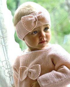 Pink headband and sweater dress children's fashion