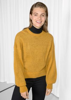 79,- & Other Stories image 2 of Mohair Jumper in Yellow