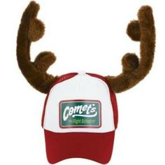 Christmas Trucker Hat with Plush Antlers