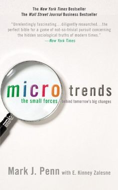 Microtrends: The Small Forces Behind Tomorrow's Big Changes von Mark Penn http://www.amazon.de/dp/0446536431/ref=cm_sw_r_pi_dp_BHEHvb01CGY5R