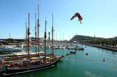 Stephanie De Lima of Canada competes during the Women's 20m High Diving on day eleven of the 15th FINA World Championships at Moll de la Fusta on July 30, 2013 in Barcelona, Spain.