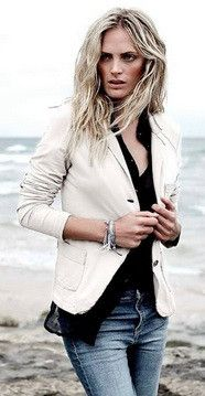 7 Seasons Blazer #2015 #7seasons #blazer #cotton #spring #summer #trend