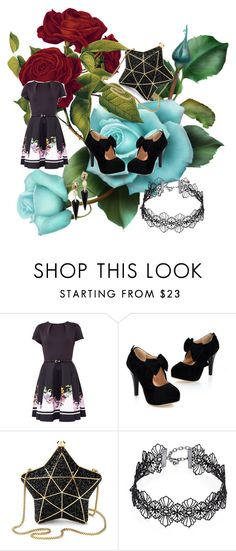 """""""dark kawaii"""" by alexie-loiseau on Polyvore featuring mode, Ted Baker, Aspinal of London, Design Lab et Alexis Bittar"""