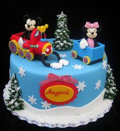 Mickey Mouse Christmas Cake