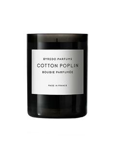 Cozy Scents - Byredo Cotton Poplin candle | allure.com