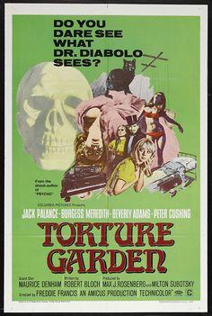 Torture Garden (1967) Amicus Film, Peter Cushing https://www.youtube.com/user/PopcornCinemaShow