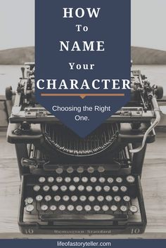 I once had someone tell me that naming a character is the hardest part of planning a novel. I can see that, definitely. We all should know how personal a na
