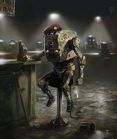 Toaster Robot Veteran. Robot a creative universe. Image from http://acreativeuniverse.com/tag/robot/