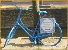 Delft Blue Bike.  Want to know all about #Delft & surroundings. #getsocialwithalocal & #offthebeatentrack with the bike rides of http://veritasvisit.nl
