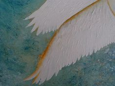 Painting of a white swan taking flight from the surface of water - created using acrylics on canvas Swan Painting, White Swan, Mixed Media Canvas, Bird Art, Birds In Flight, Delivery, David, Link, Check