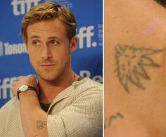 Pin for Later: Die ultimative Galerie der Promi Tattoos! Ryan Gosling