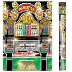 LAS Vegas Poker Casino Gambler Party Slot Machines Scene Setter Wall Decoration | eBay