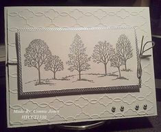 HYCCT1330 Silver Trees by stamp300 - Cards and Paper Crafts at Splitcoaststampers