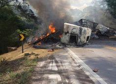 Mãe e duas filhas que moravam em Mato Grosso do Sul morreram carbonizadas em um grave acidente n...