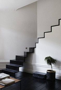 New Black Stairs Modern Stairways Staircase Design 64 Ideas Interior Stairs, Interior Architecture, Interior And Exterior, Interior Design, Monochrome Interior, Luxury Interior, Luxury Furniture, Modern Interior, Escalier Design