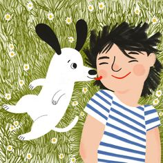"""""""What are Sundays for? Illustration by Abigail Terry. People Illustration, Children's Book Illustration, Character Illustration, Doodle, Ohh Deer, Illustrations And Posters, Dog Art, Character Design, Sketches"""