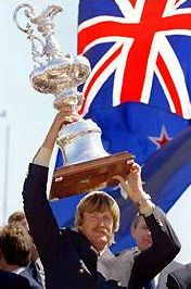 Sir Peter Blake (1948 - 2001)New Zealand yachtsman who twice won the Americas Cup, also won the Whitbread round-the-world race in 1989, killed by pirates during a robbery on his boat on the Amazon River